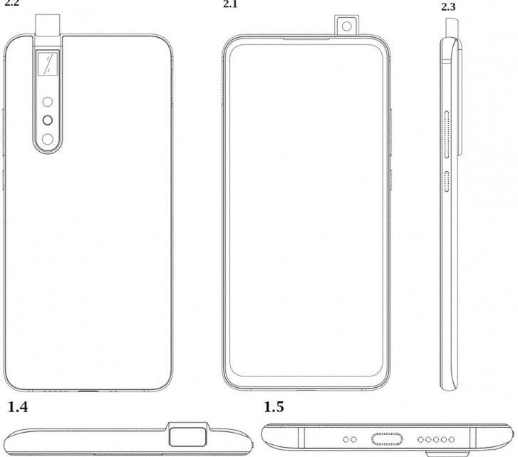 Xiaomi'dan yeni stil pop-up kamera patendi
